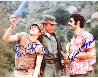 M*A*S*H MOVIE CAST - AUTOGRAPHED SIGNED PHOTOGRAPH CO-SIGNED BY: DONALD SUTHERLAND, ELLIOTT GOULD