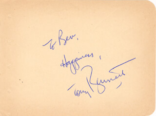 TONY BENNETT - AUTOGRAPH NOTE SIGNED