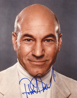 PATRICK STEWART - AUTOGRAPHED SIGNED PHOTOGRAPH