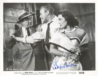 PATRICIA MEDINA - AUTOGRAPHED SIGNED PHOTOGRAPH