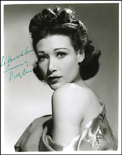 BETTY BRUCE - AUTOGRAPHED INSCRIBED PHOTOGRAPH