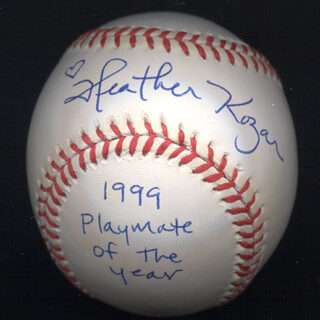HEATHER KOZAR - AUTOGRAPHED SIGNED BASEBALL