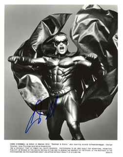 CHRIS O'DONNELL - AUTOGRAPHED SIGNED PHOTOGRAPH