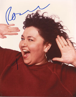 ROSEANNE BARR - AUTOGRAPHED SIGNED PHOTOGRAPH