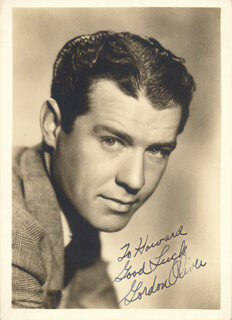 GORDON OLIVER - AUTOGRAPHED INSCRIBED PHOTOGRAPH