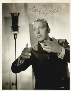 DAVID BROEKMAN - AUTOGRAPHED SIGNED PHOTOGRAPH 1939