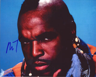 MR. T - AUTOGRAPHED SIGNED PHOTOGRAPH