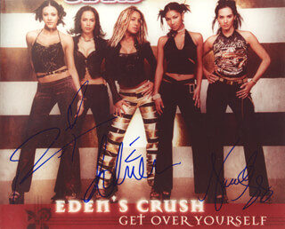 EDEN'S CRUSH - AUTOGRAPHED SIGNED PHOTOGRAPH CO-SIGNED BY: EDEN'S CRUSH (IVETTE SOSA), EDEN'S CRUSH (MAILE MISAJON), EDEN'S CRUSH (ROSANNA TAVAREZ)