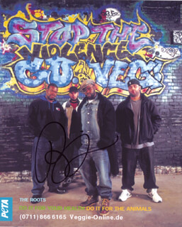 Autographs: THE ROOTS (BLACK THOUGHT ) - PHOTOGRAPH SIGNED