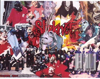 SLIPKNOT - AUTOGRAPHED SIGNED PHOTOGRAPH CO-SIGNED BY: SLIPKNOT (CHRIS FEHN), SLIPKNOT (SHAWN CLOWN CRAHAN), SLIPKNOT (COREY TAYLOR)