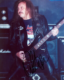 JUDAS PRIEST (IAN HILL) - AUTOGRAPHED SIGNED PHOTOGRAPH