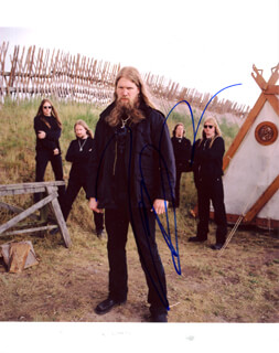 Autographs: AMON AMARTH (JOHAN HEGG) - PHOTOGRAPH SIGNED