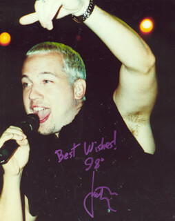 Autographs: 98 DEGREES (JUSTIN JEFFRE) - PHOTOGRAPH SIGNED