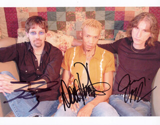 KING'S X - AUTOGRAPHED SIGNED PHOTOGRAPH CO-SIGNED BY: KING'S X (DOUG PINNICK), KING'S X (TY TABOR), KING'S X (JERRY GASKILL)