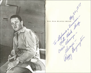 COLONEL GREG PAPPY BOYINGTON - INSCRIBED BOOK SIGNED 05/24/1977