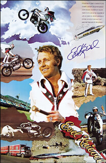 EVEL KNIEVEL - AUTOGRAPHED SIGNED POSTER