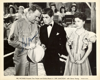 DICKIE MOORE - PRINTED PHOTOGRAPH SIGNED IN INK