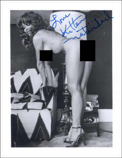 KITTEN NATIVIDAD - AUTOGRAPHED SIGNED PHOTOGRAPH