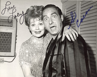 LUCILLE LUCY BALL - AUTOGRAPHED SIGNED PHOTOGRAPH CO-SIGNED BY: SID CAESAR