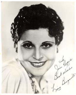 LINA BASQUETTE - AUTOGRAPHED INSCRIBED PHOTOGRAPH
