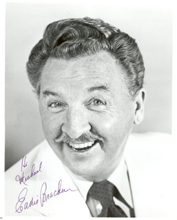 EDDIE BRACKEN - AUTOGRAPHED INSCRIBED PHOTOGRAPH
