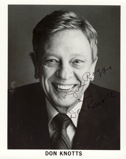 DON KNOTTS - AUTOGRAPHED INSCRIBED PHOTOGRAPH