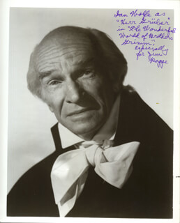 IAN WOLFE - AUTOGRAPHED INSCRIBED PHOTOGRAPH