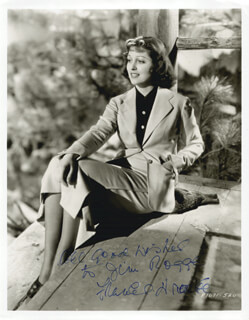 FRANCES DRAKE - AUTOGRAPHED INSCRIBED PHOTOGRAPH