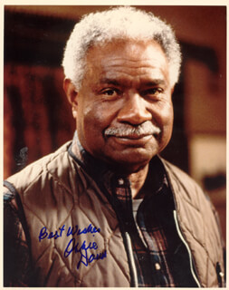 OSSIE DAVIS - AUTOGRAPHED SIGNED PHOTOGRAPH