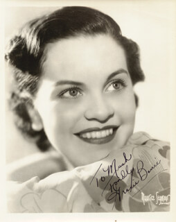 GRACIE BARRIE - AUTOGRAPHED INSCRIBED PHOTOGRAPH CIRCA 1936
