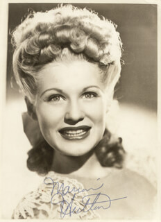MARION HUTTON - AUTOGRAPHED SIGNED PHOTOGRAPH