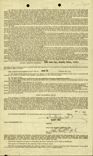 Autographs: GLENN FORD - CONTRACT SIGNED 11/01/1952
