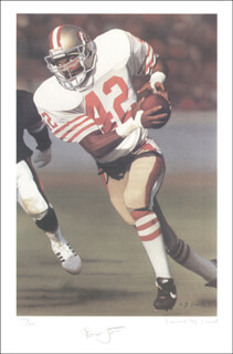 RONNIE LOTT - PRINTED ART SIGNED IN PENCIL CO-SIGNED BY: DANIEL M. SMITH