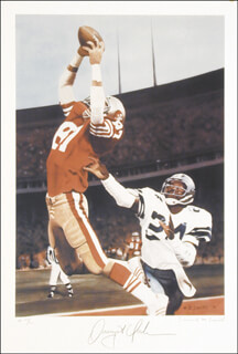 DWIGHT CLARK - PRINTED ART SIGNED IN PENCIL CO-SIGNED BY: DANIEL M. SMITH