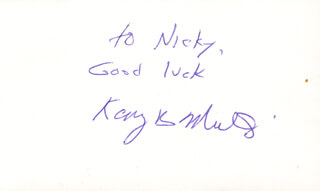 Autographs: KARY B. MULLIS - INSCRIBED SIGNATURE