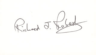 Autographs: RICHARD J. ROBERTS - SIGNATURE(S)