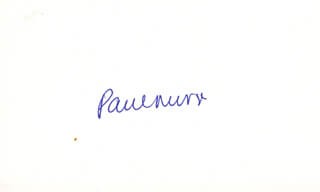 Autographs: SIR PAUL NURSE - SIGNATURE(S)