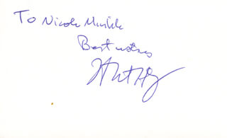 Autographs: H. ROBERT HORVITZ - INSCRIBED SIGNATURE