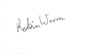 Autographs: J. ROBIN WARREN - SIGNATURE(S)