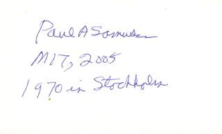 Paul A. Samuelson Autographs 272315