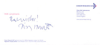 Autographs: TIMOTHY HUNT - AUTOGRAPH SENTIMENT SIGNED