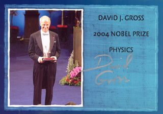 DAVID J. GROSS - AUTOGRAPHED SIGNED PHOTOGRAPH