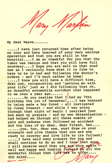 MARY MARTIN - TYPED LETTER SIGNED