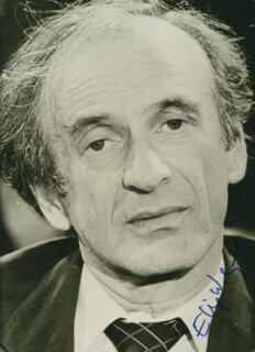 ELIE WIESEL - AUTOGRAPHED SIGNED PHOTOGRAPH