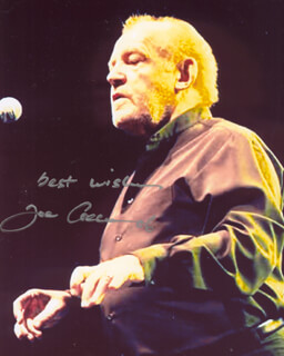 JOE COCKER - AUTOGRAPHED SIGNED PHOTOGRAPH 2006