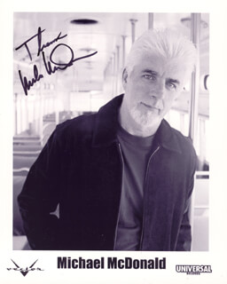 MICHAEL McDONALD - AUTOGRAPHED SIGNED PHOTOGRAPH