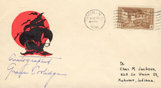 FIRST LADY GRACE COOLIDGE - ENVELOPE SIGNED