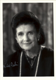 LEA RABIN - AUTOGRAPHED SIGNED PHOTOGRAPH