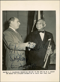 W.C. HANDY - AUTOGRAPHED INSCRIBED PHOTOGRAPH 06/20/1947