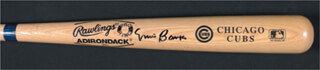 ERNIE MR. CUB BANKS - BASEBALL BAT SIGNED